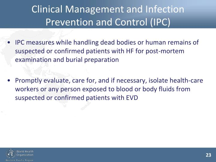 Clinical Management and Infection Prevention and Control (IPC)