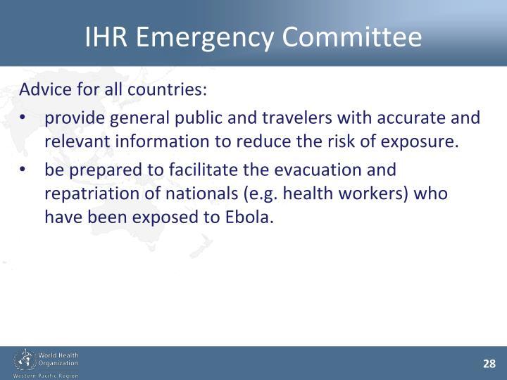 IHR Emergency Committee
