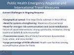 public health emergency response and international travel measures