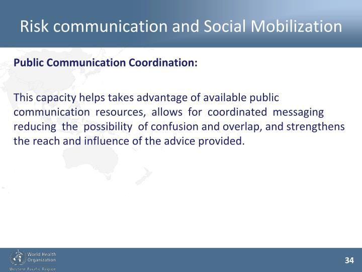 Risk communication and Social Mobilization