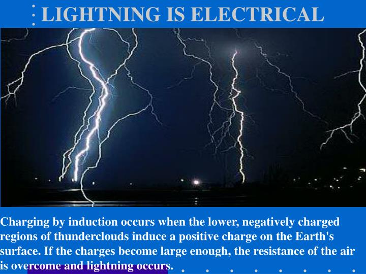 Lightning is electrical