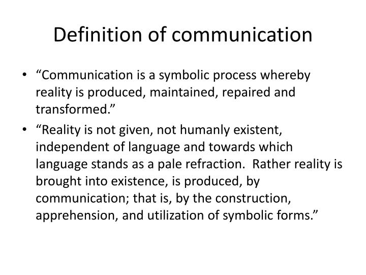 Definition of communication