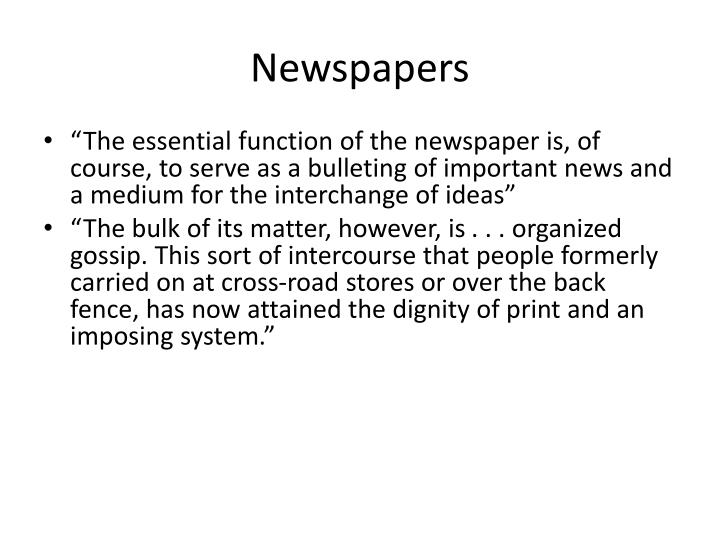 Newspapers