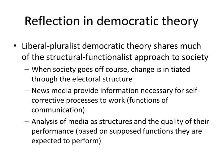 Reflection in democratic theory
