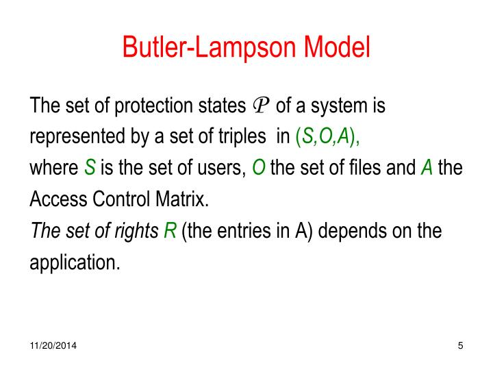 Butler-Lampson Model