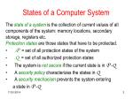 states of a computer system