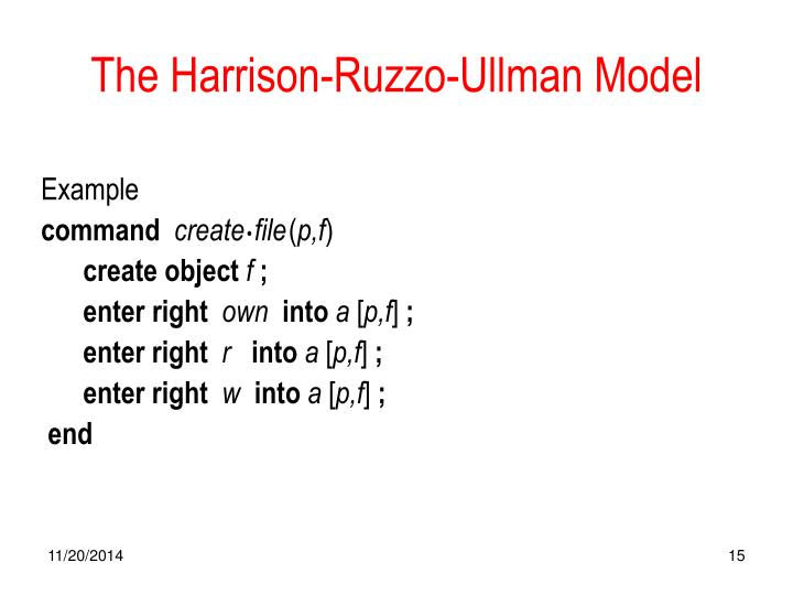 The Harrison-Ruzzo-Ullman Model