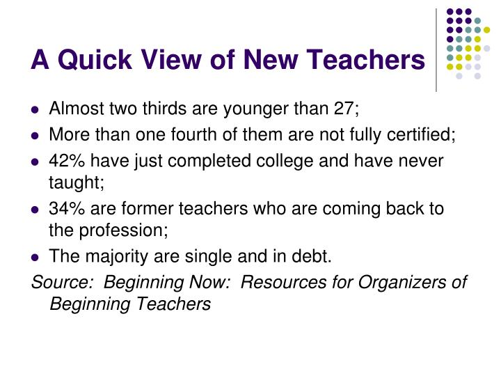 A Quick View of New Teachers