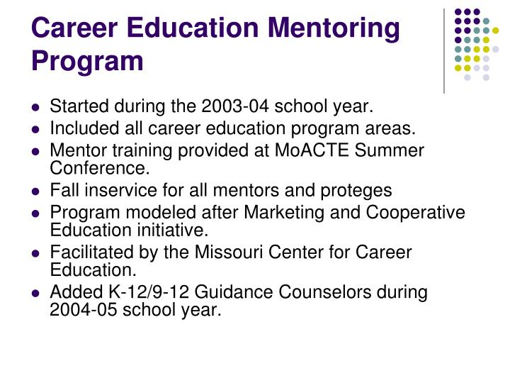 Career Education Mentoring Program