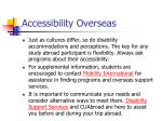 accessibility overseas