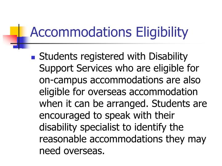 Accommodations Eligibility