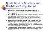 quick tips for students with disabilities going abroad