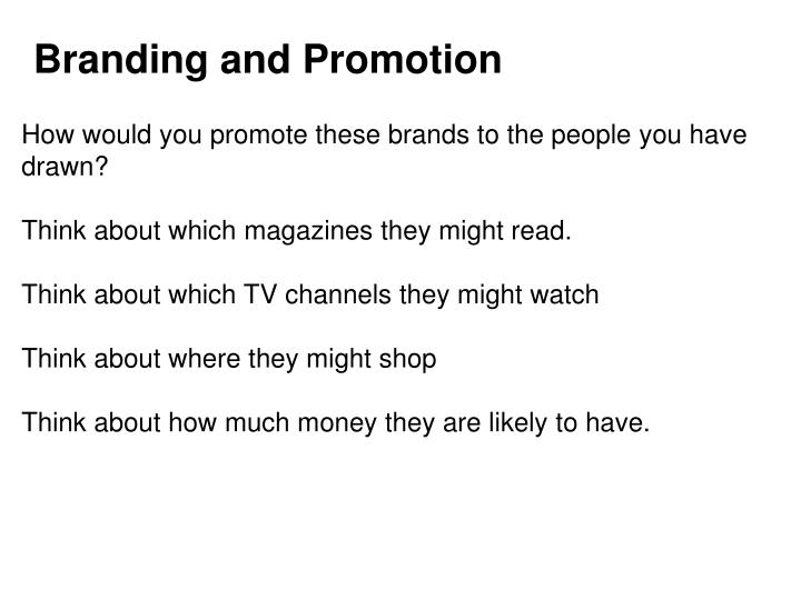 Branding and Promotion