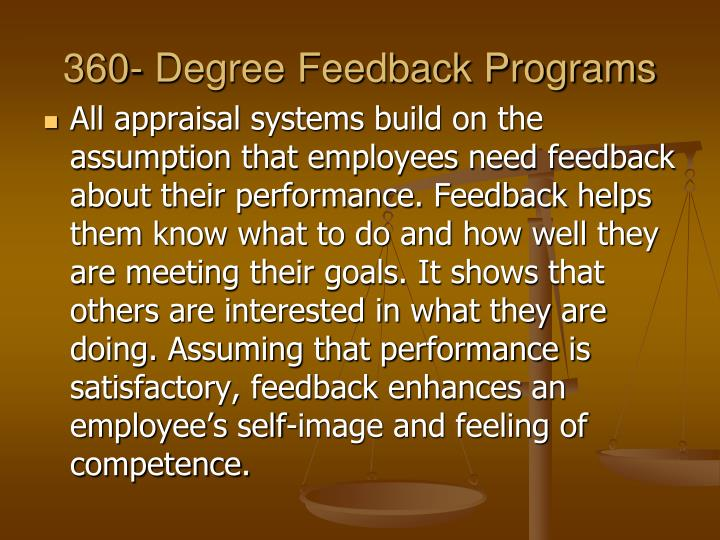 360- Degree Feedback Programs