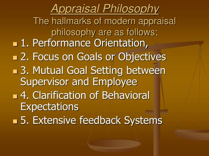 Appraisal Philosophy