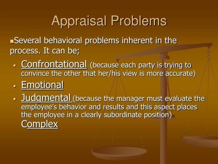 Appraisal Problems