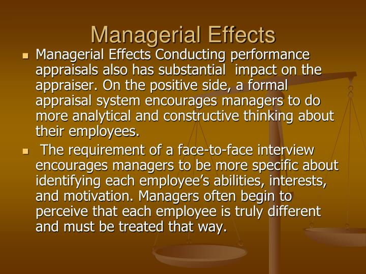 Managerial Effects