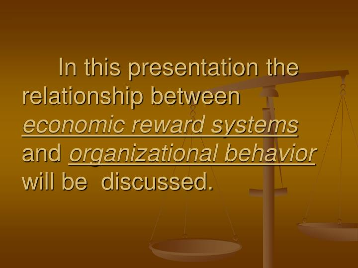 In this presentation the relationship between