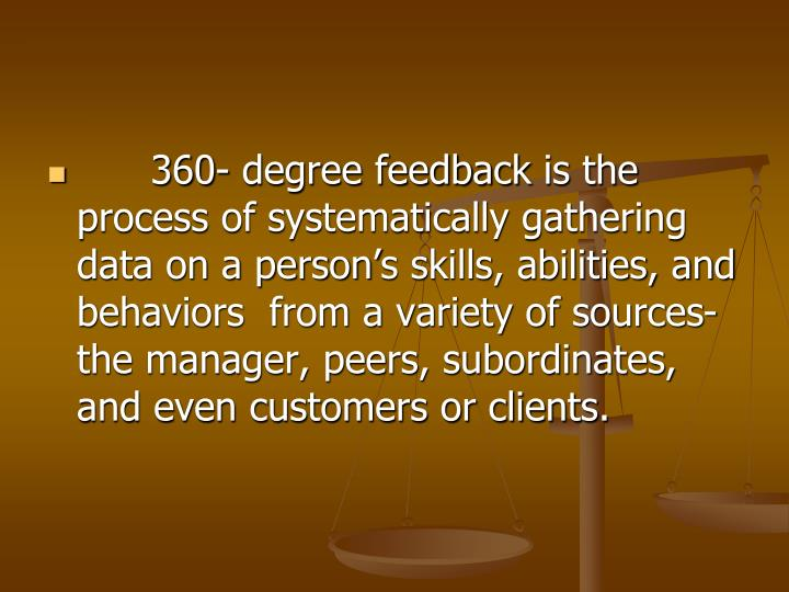 360- degree feedback