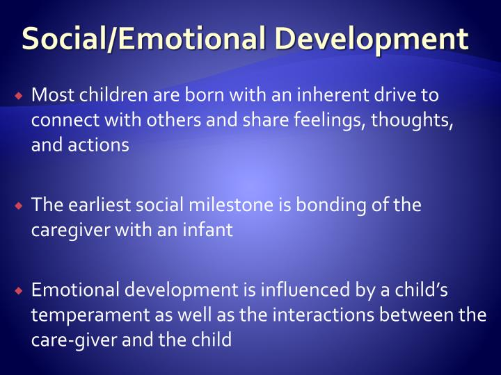 Social/Emotional Development
