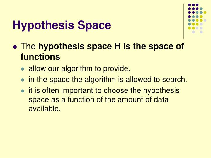 Hypothesis Space