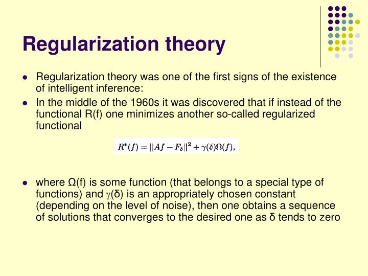 Regularization theory