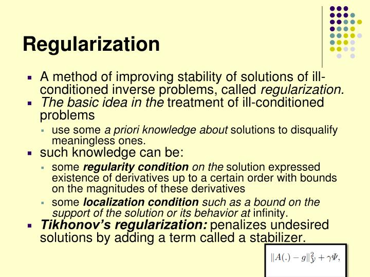 Regularization