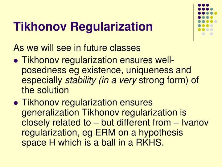 Tikhonov Regularization