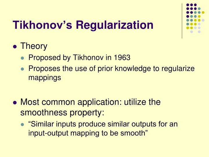 Tikhonov's