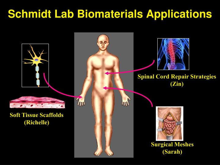 Schmidt lab biomaterials applications