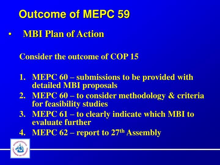 Outcome of MEPC 59