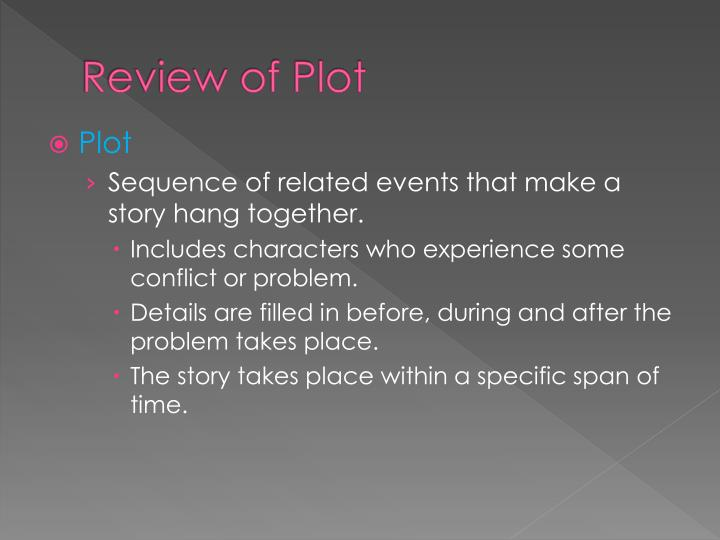 Review of Plot