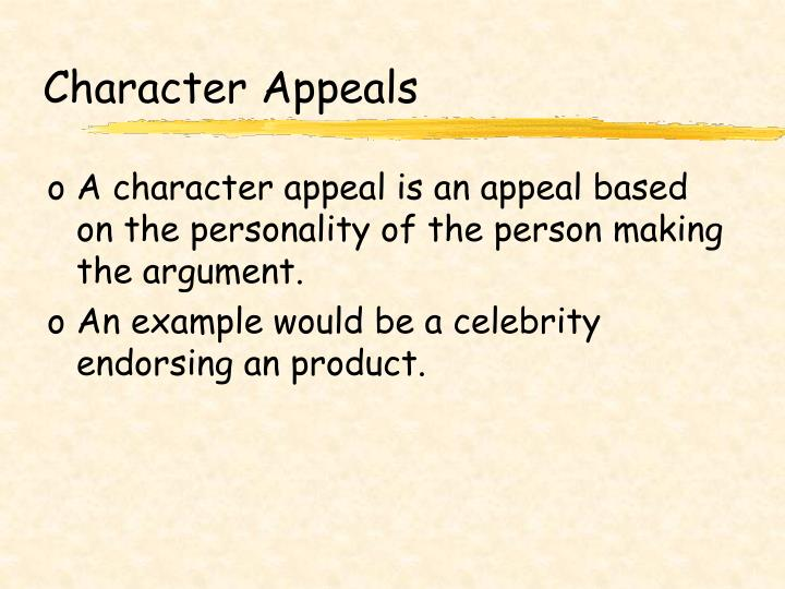 Character Appeals