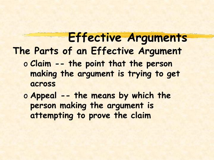 Effective Arguments