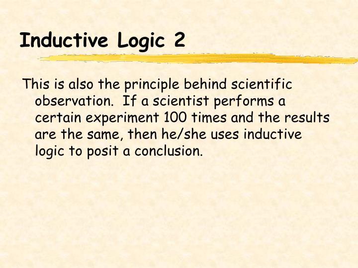 Inductive Logic 2