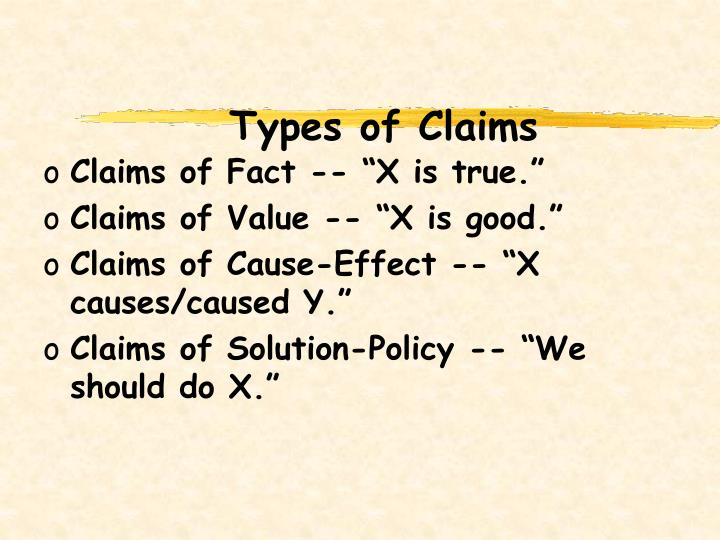 Types of Claims