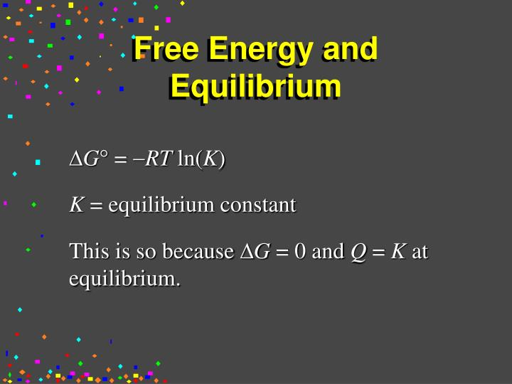 Free Energy and Equilibrium