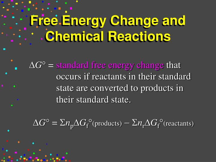 Free Energy Change and Chemical Reactions