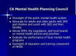 ca mental health planning council
