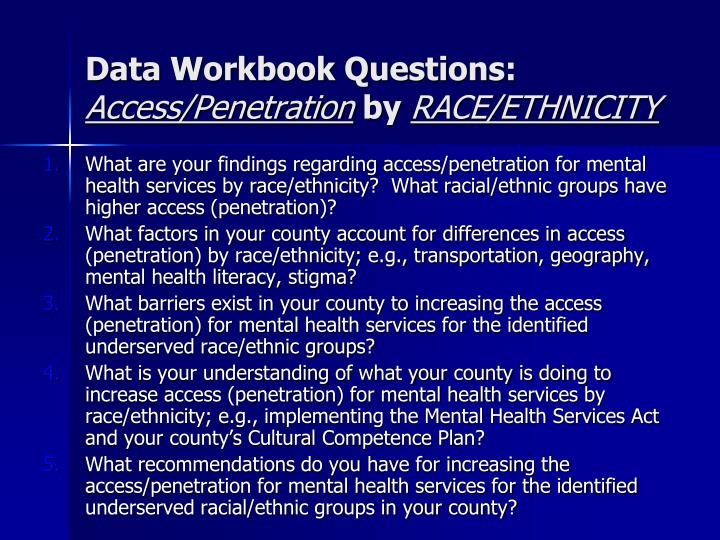 Data Workbook Questions: