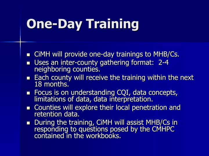 One-Day Training