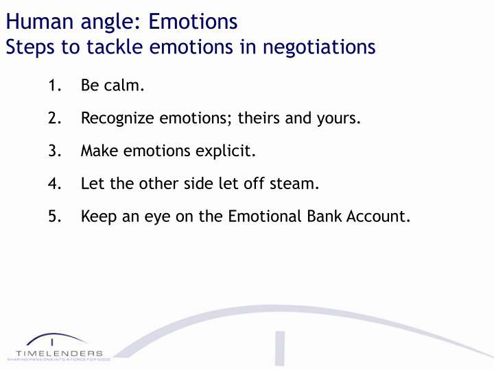 Human angle: Emotions