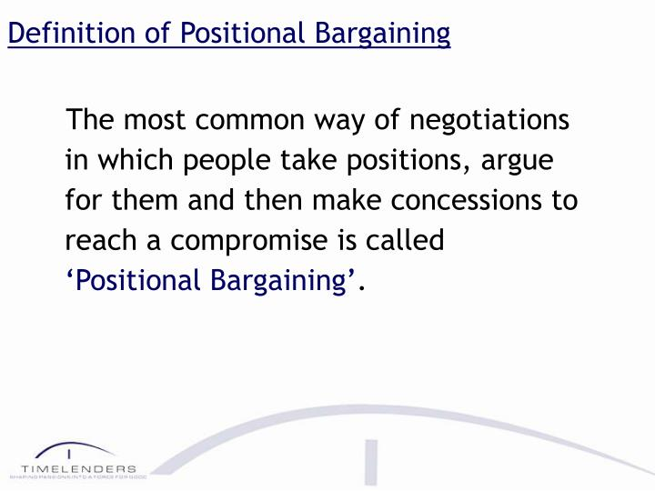 Definition of Positional Bargaining