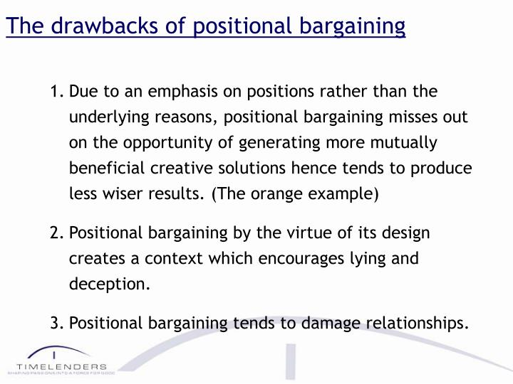 The drawbacks of positional bargaining