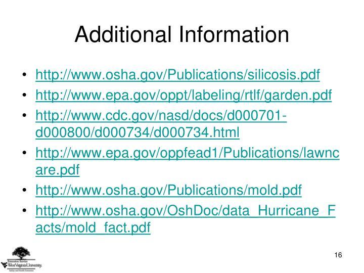 http://www.osha.gov/Publications/silicosis.pdf