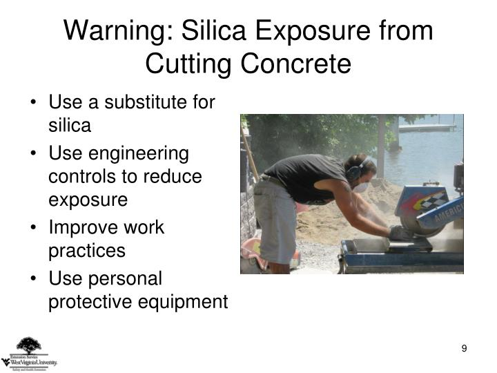 Warning: Silica Exposure from Cutting Concrete