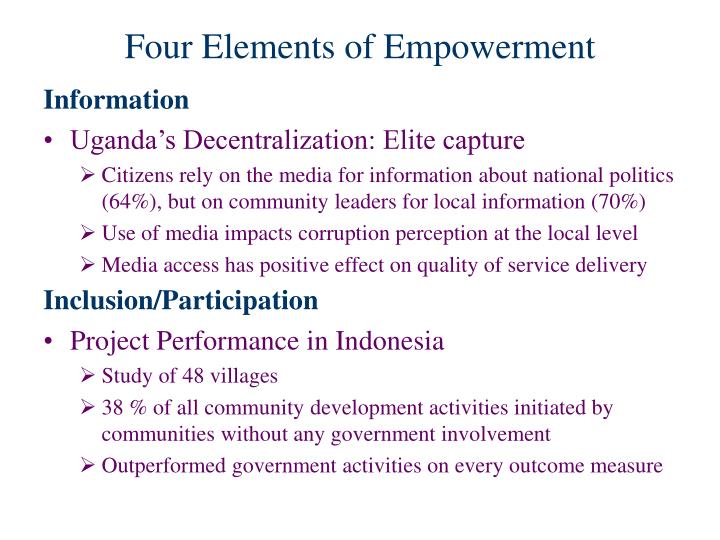 Four Elements of Empowerment