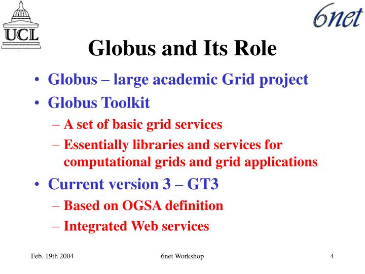 Globus and Its Role