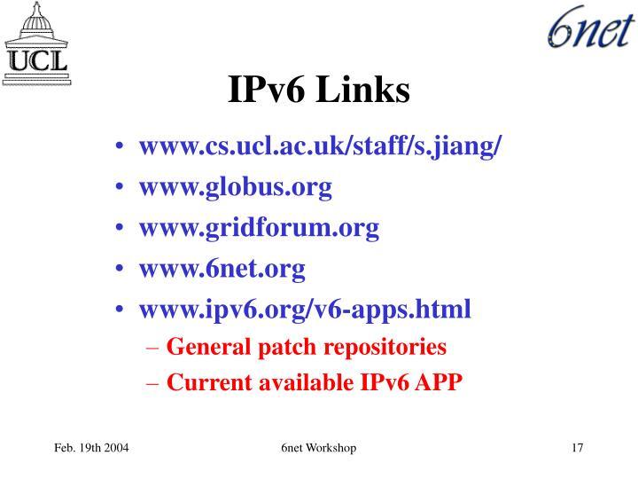 IPv6 Links