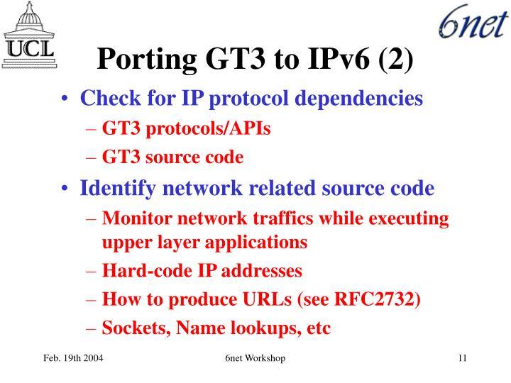 Porting GT3 to IPv6 (2)
